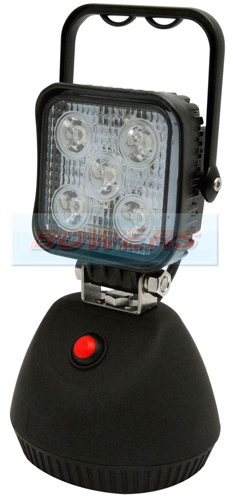 magnetic led work light rechargeable 12v 24v ecco ew2461 5 led portable rechargeable square