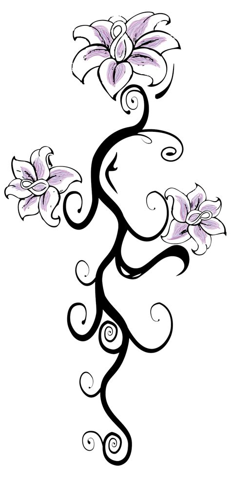 flower tattoo transparent  transparent png