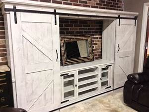 best 25 rustic entertainment centers ideas on pinterest With barn door style entertainment center