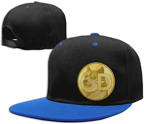 Jopath Dogecoin Coin Logo Caps Funny Doge Hat Trucker Mesh ...