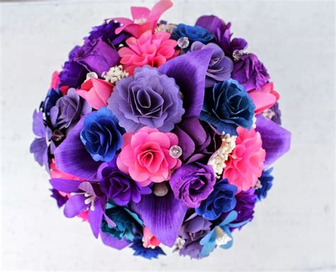 Purple, Pink And Blue Wedding