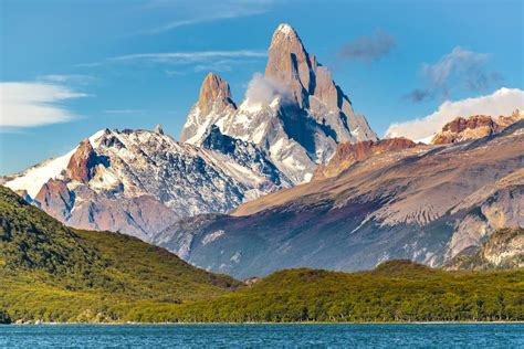 Lake And Andes Mountains Patagonia Argentina