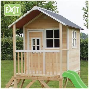 Spielhaus Mit Veranda : spielhaus loft mit veranda sandkasten und rutsche cm exit mytoys ~ Frokenaadalensverden.com Haus und Dekorationen