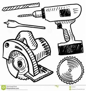 power tools sketch stock image image 23920501 With com amprobeelectricalcircuittracer electricaltools
