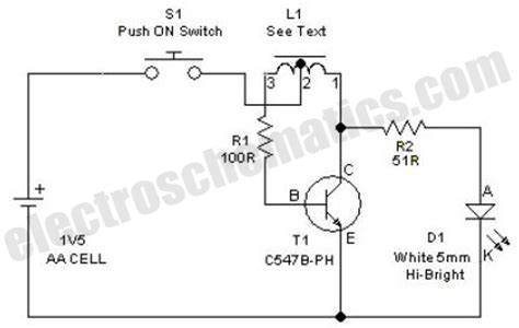 Led Bulb 9 C Wiring Schematic by High Efficiency Led With 1 5 Volts Circuit Diagram World