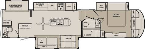 fifth wheel bunkhouse floor plans blackwood 36bh fifth wheel bunk house jpg