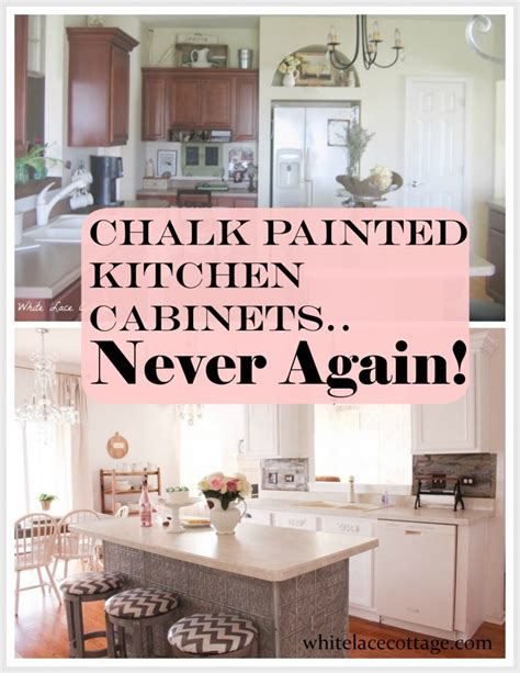 chalk painted kitchen cabinets   white lace cottage
