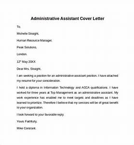 cover letters samples for administrative assistant 10 administrative assistant cover letters samples