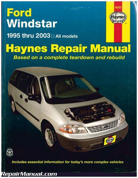 haynes   ford windstar mini van repair manual