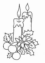 Christmas Candles Coloring Pages Print sketch template