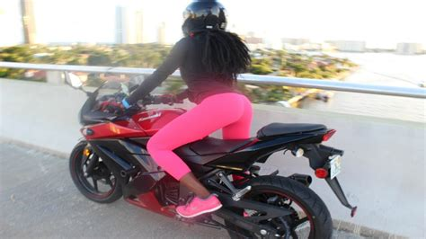 Female Motovlogger Epic Fail First Time Riding Mistakes