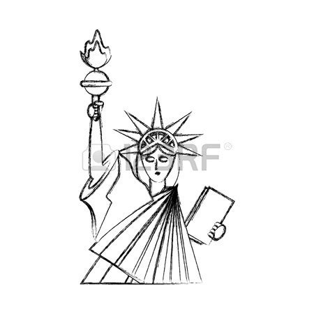 Statue Of Liberty Drawing Template by Statue Of Liberty Drawing At Getdrawings Free For