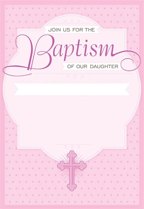 Dotted Pink Free Printable Baptism & Christening