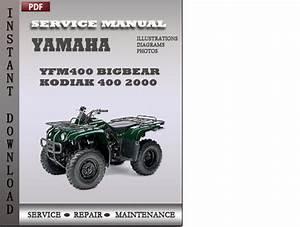 Yamaha Yfm400 Bigbear Kodiak 400 2000 Factory Service
