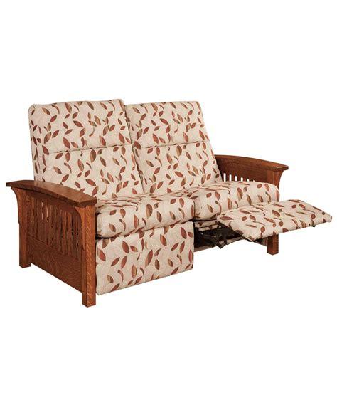 Skyline Loveseat by Skyline Slat Loveseat Recliner Amish Direct Furniture