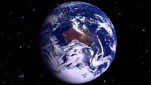 The Earth rotating from space? - YouTube