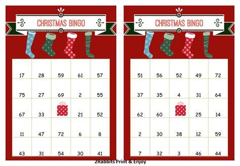 20 free printable christmas bingo cards. 40 Printable Christmas Bingo Cards Prefilled by ...