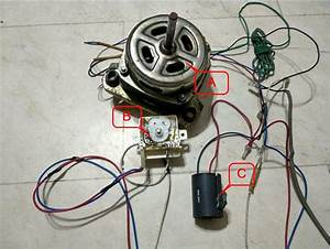 3 Wire Washing Machine Motor Wiring Diagram