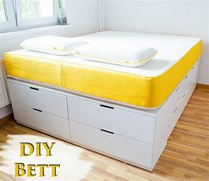 Ikea Malm Bett 180x200 Anleitung : diy ikea hack plattform bett selber bauen aus ikea ~ Watch28wear.com Haus und Dekorationen