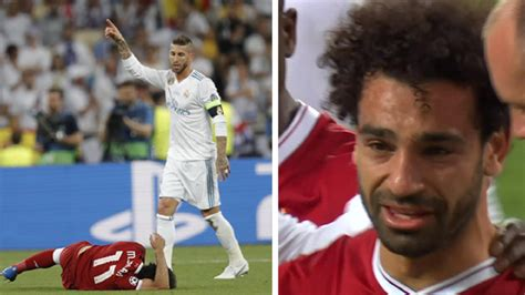mohamed salah suffers injury  champions league final