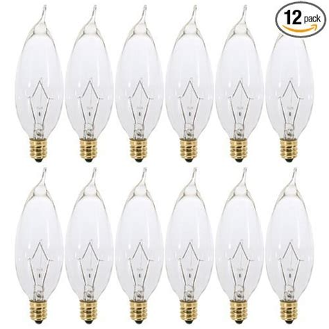 pack of 12 60 watt clear shaped incandescent