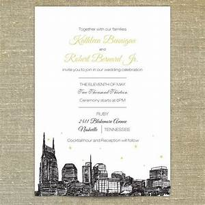 nashville skyline wedding invitation sample only With wedding invitations nashville tn