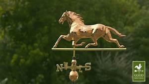 Copper Horse Weathervane -Trotting Horse Wind vane 580P ...