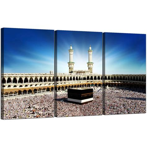 dining room set for sale islamic mecca kaaba at hajj cheap canvas 3 panel for a