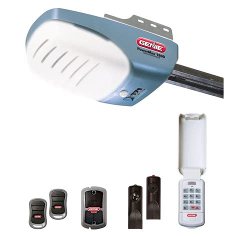 Genie Garage Door Opener W 2 Remotes, Wall Console, And