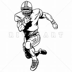 Football Player Clipart Black And White - ClipartXtras