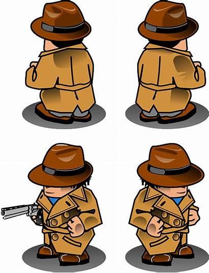 Detective Clipart Sprite Noir Clip Gun Neutralizer