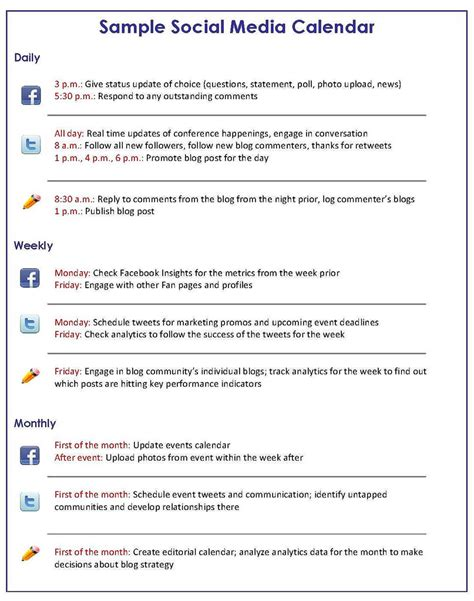 social media marketing plan template social media marketing how to get a handle on your social media schedule bruce clay