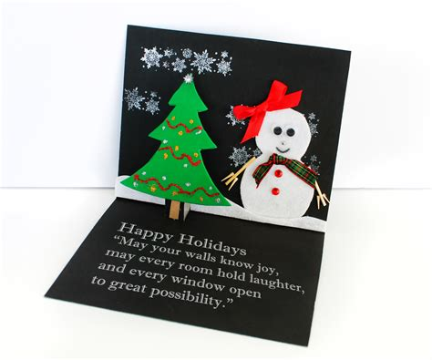 easy christmas card craft  kids growing  bilingual