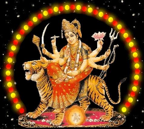 Durga Maa Animated Wallpaper - maa durga devi animation gif pictures images photos