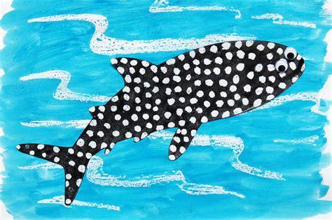 crayon resist whale shark kids crafts fun craft ideas