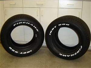 2 new 225 70 14 firestone firehawk indy 500 white letter With firehawk indy 500 white letter tires