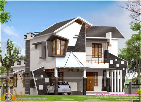 homes designs unique house exterior in 2154 square kerala home