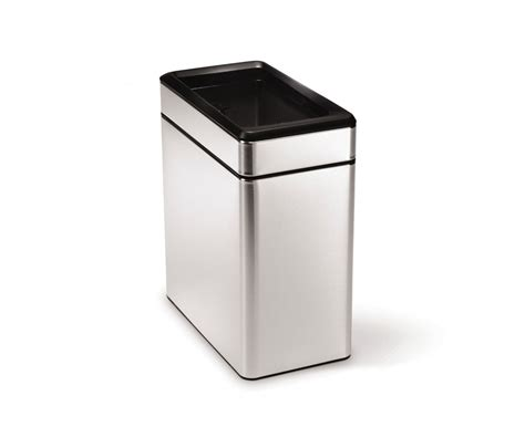 garbage disposal reviews simplehuman 10l steel profile open trash can