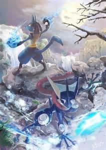 Pokemon Lucario and Mewtwo Super Smash Bros