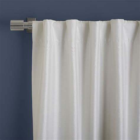 108 Inch Blackout Curtain Liner by Greenwich Curtain Blackout Liner Ivory West Elm