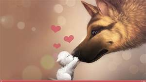 Valentines Day Dog & Cat Love HD Wallpaper » FullHDWpp ...