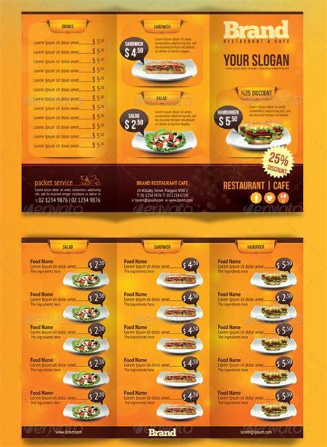 Restaurant Brochure Templates by Restaurant Menu Template