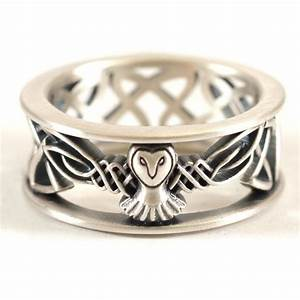 sterling silver owl wedding band celtic owl ring mens With owl wedding rings