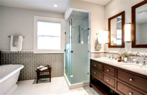 Traditional Contemporary Bathrooms : Contemporary Traditional Bathrooms With Cool Lighting And