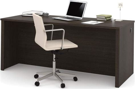 embassy chocolate 71 quot executive desk from bestar