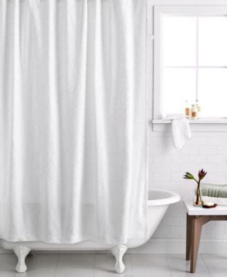 hotel collection textured wave shower curtain bathroom