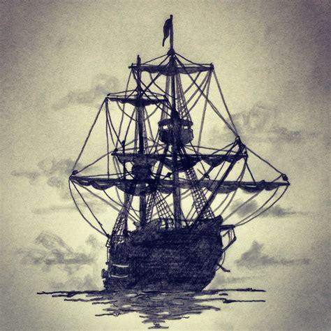 Ship In The Dark Tattoo Sketch By Ranz Pinterest By