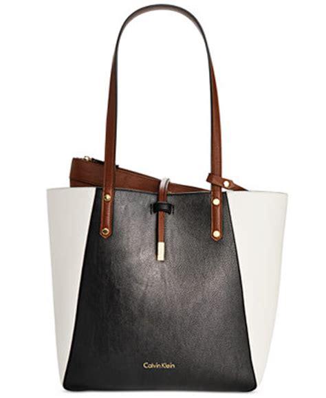 calvin klein bag  bag medium reversible colorblock tote handbags accessories macys