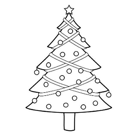 Kleurplaat Kerstboom Met Pakjes by Leuk Voor Een Versierde Kerstboom