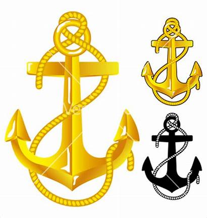 Anchor Gold Colored Vector Shapes Svg Graphic